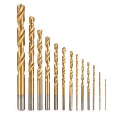 Titan-Nitrid HSS Bohrer Satz Set Sechskant Schaft Spiralbohrer 99 tlg.