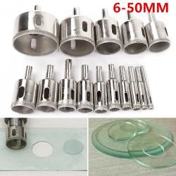 Glasbohrer Set Diamantbohrer Hohlbohrer Bohrkrone 6-50mm 15pcs