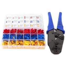 Crimpzange Kabelschuhe Zange Krimpzange Set mit 700 Stück Steckverbinder