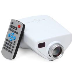 """Mini 1080P 16W 5,8"""" Mobil Beamer Videoprojektor HDMI LCD Player Weiß"""