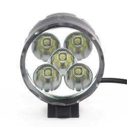 Fahrradlampe 5x Cree Bike Leuchte Fahrrad Licht Set Scheinwerfer