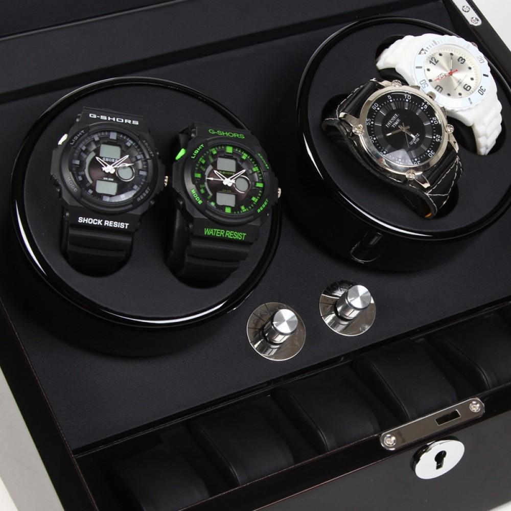 automatische uhrenbeweger watch winder 4 6 uhren uhrenaufbewahrung. Black Bedroom Furniture Sets. Home Design Ideas