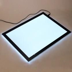 A3 LED Leuchttisch Leuchttablett dimmbar Leuchtpult Lichtkasten 43x31cm