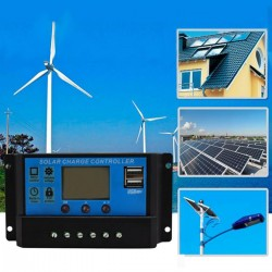 Solaranlage Laderegler Panel Solarregler mit LCD-Anzeige 20A 12V-24V