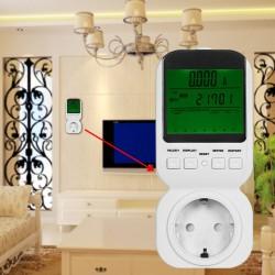 Energiekosten Steckdose Strommessgerät Zähler Messgerät 3680W weiss