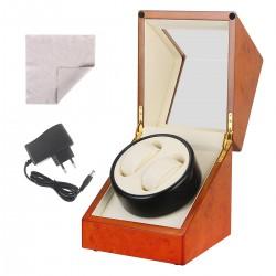 Uhrendreher Uhrenbeweger Watch Winder automatik für 2 Uhren Holz