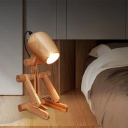 Nachtlicht Schreibtisch Tischlampe Tischleuchte Hölzerne Hund-Form