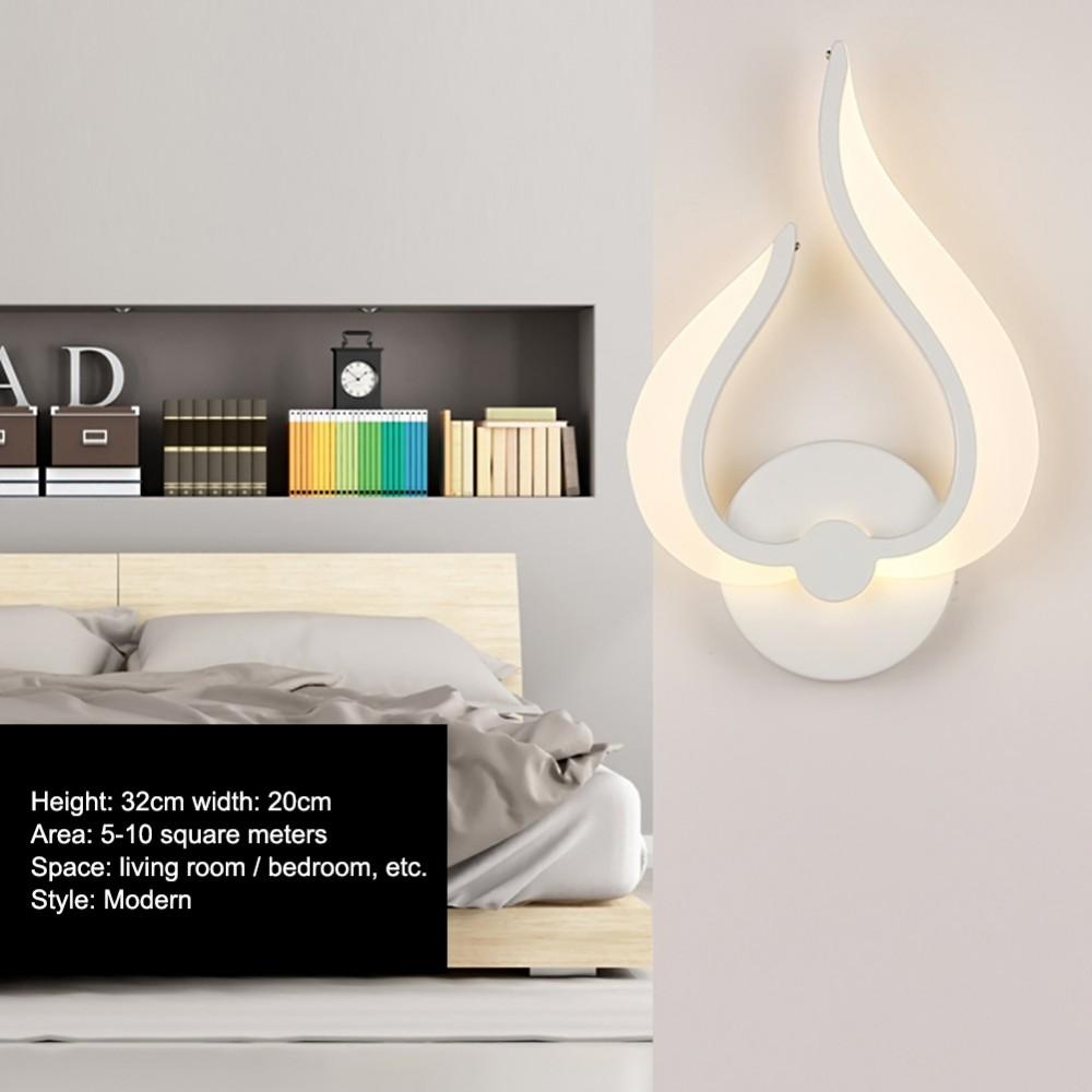 LED Wandbeleuchtung Wandlampe Nachttischlampe Flamme 10W
