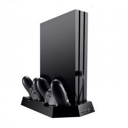 Standfuss Vertikalständer Kühler mit Ladestation für PS4 DualShock