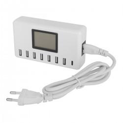 8-Port USB Ladegerät Multi Port USB Netzteil Desktop Ladestation
