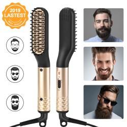 Multifunktions Haarstyler Bartglätter Haarglätter Bürste für Männer