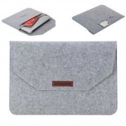 "Filz Sleeve Laptop Tasche Hülle für Notebook MacBook 15.4"" Hellgrau"