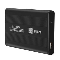 """Festplattengehäuse Externes Gehäuse für SATA 2.5"""" schwarz Aluminium"""