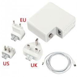 USB C Netzteil PD-Ladegerät USB C zu USB C Kabel für MacBoo 61W