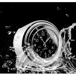 Motorraduhr Lenkeruhr Lenker Clock Metall für Halley Motorrad schwarz