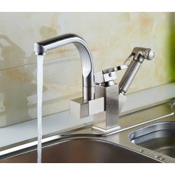 Wasserhahn Küchenarmatur Spültisch Küche Wasserhahn Chrom drehbar 2in1