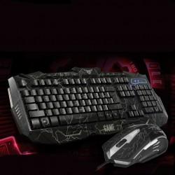 LED-Hintergrundbeleuchtung 3 Farben Helligkeit USB Gaming Tastaturk
