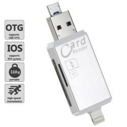 Speicherkartenleser Kartenleser Card Reader 3in1 Lightning micro USB