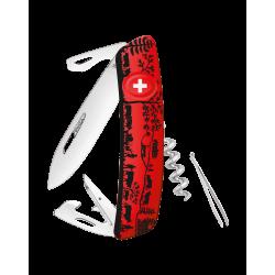 Swiza Taschenmesser Klappmesser Schweizer Messer D01 rot Heidiland