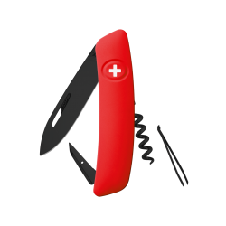 Swiza Taschenmesser Klappmesser Schweizer Messer D01 all black / rot