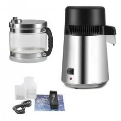 Wasserdestilliergerät Wasserdestille Edelstahl 4L 750W mit Glas