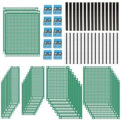 Leiterplatte Doppelseitig Lochrasterplatte PCB Board Kit 70Stk