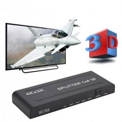 HDMI Umschalter Splitter Verteiler 1 auf 4 Distributor 1080P schwarz