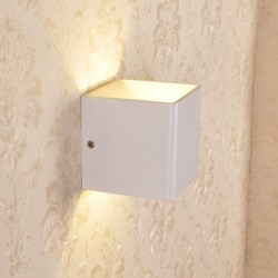 LED Wandleuchte Wandlampe Wandbeleuchtung Gehäuse Lampe warmweiß 5W