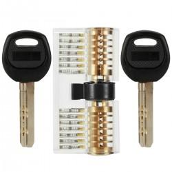 Transparentes Übungsschloss Übungszylinder für Lockpicking LOMATEE