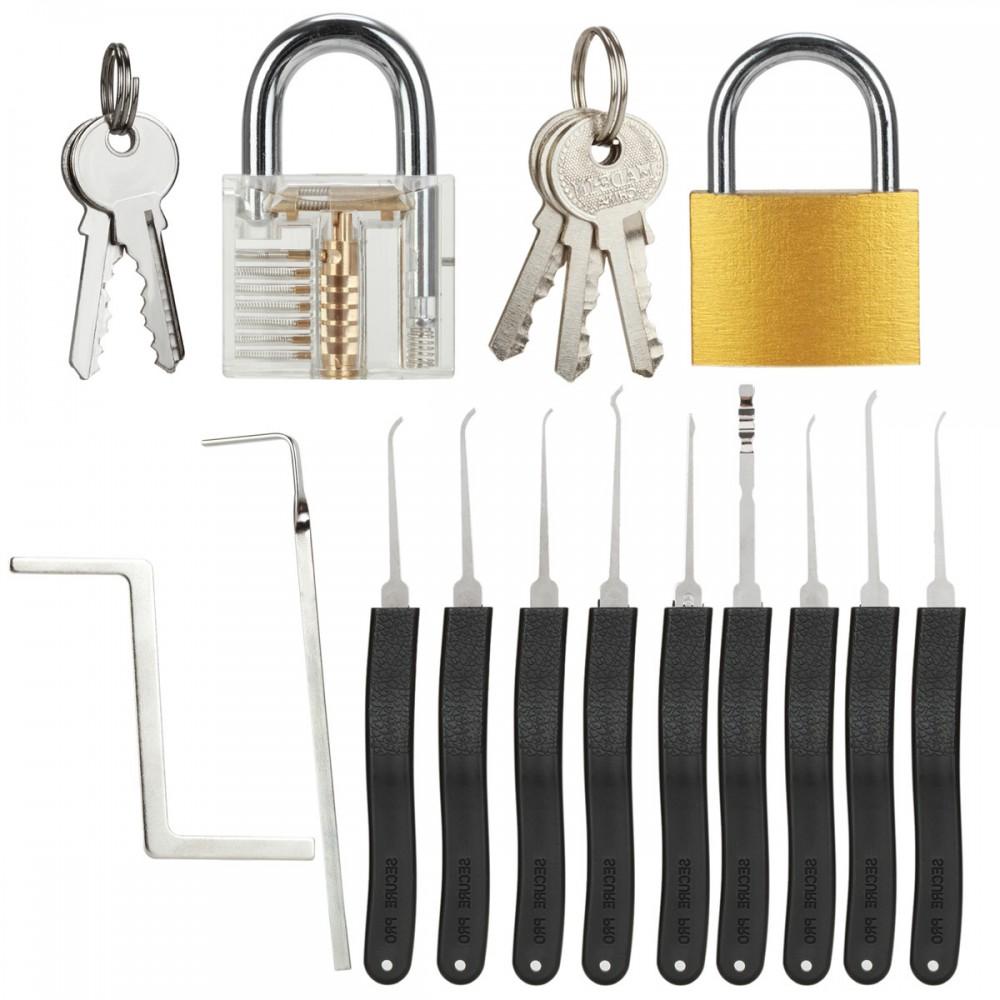 13-teiliges lockpicking Übungsschloss set schlossknacken