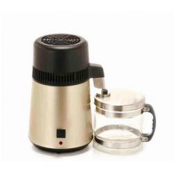Wasser Destilliergerät mit Edelstahgerätskörper Glasflasche gold 4L
