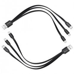 Ladegerät Ladekabel Kabel mit Micro USB Typ C 2pcs 3 in 1 Mehrfach
