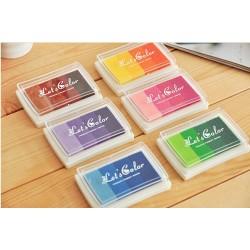 Stempelkissen Stamp Pad Fingerdruck Für Papier Handwerk Stoff 15 Farben