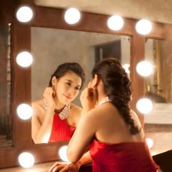 LED Spiegellampe Glühbirnen Make-up Spiegel Hollywood-Stil 12er Set