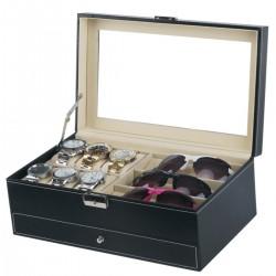 Brillenbox Uhrenbox Schmucklade Kettebox mit Schaufenster zweistöckig